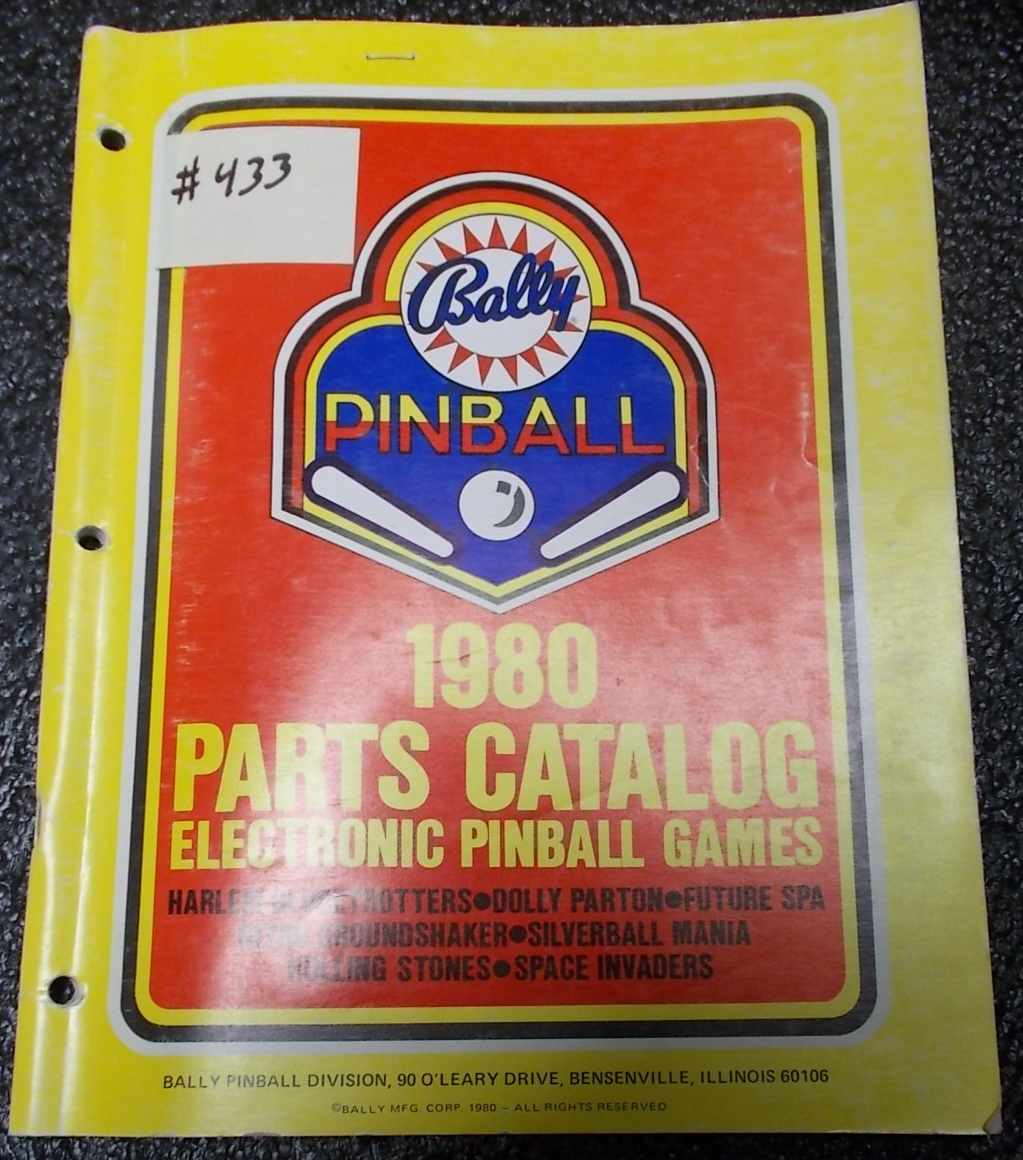 size 40 popular stores low price sale 1980 Pinball Machine Game Parts Catalog #433 for sale ...