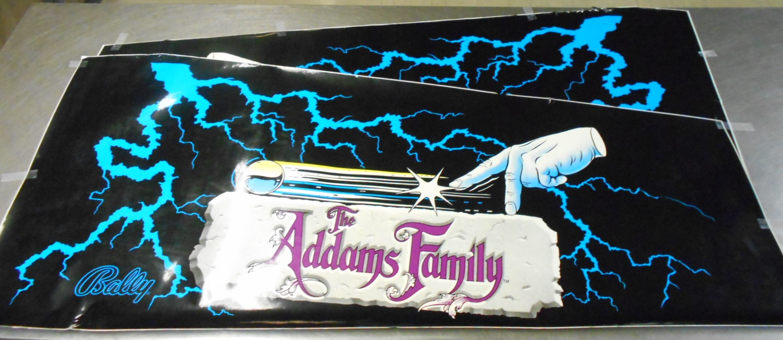 Addams Family Pinball Machine Game Cabinet Artwork 3 Piece