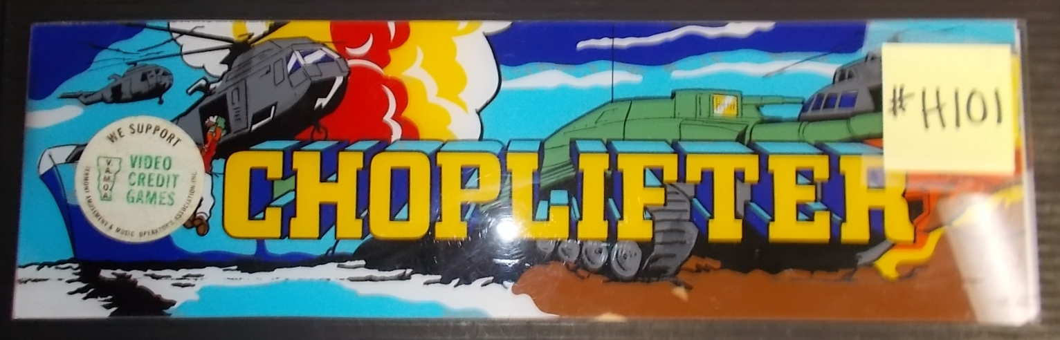 CHOPLIFTER Arcade Machine Game Overhead Marquee Header for sale ...
