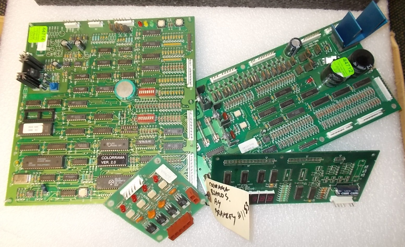 Printed Circuit Card Colorama Arcade Machine Game Pcb Board Set 1153 For Sale By Bromley