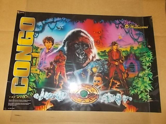 CONGO Pinball Machine Game Translite Backbox Artwork