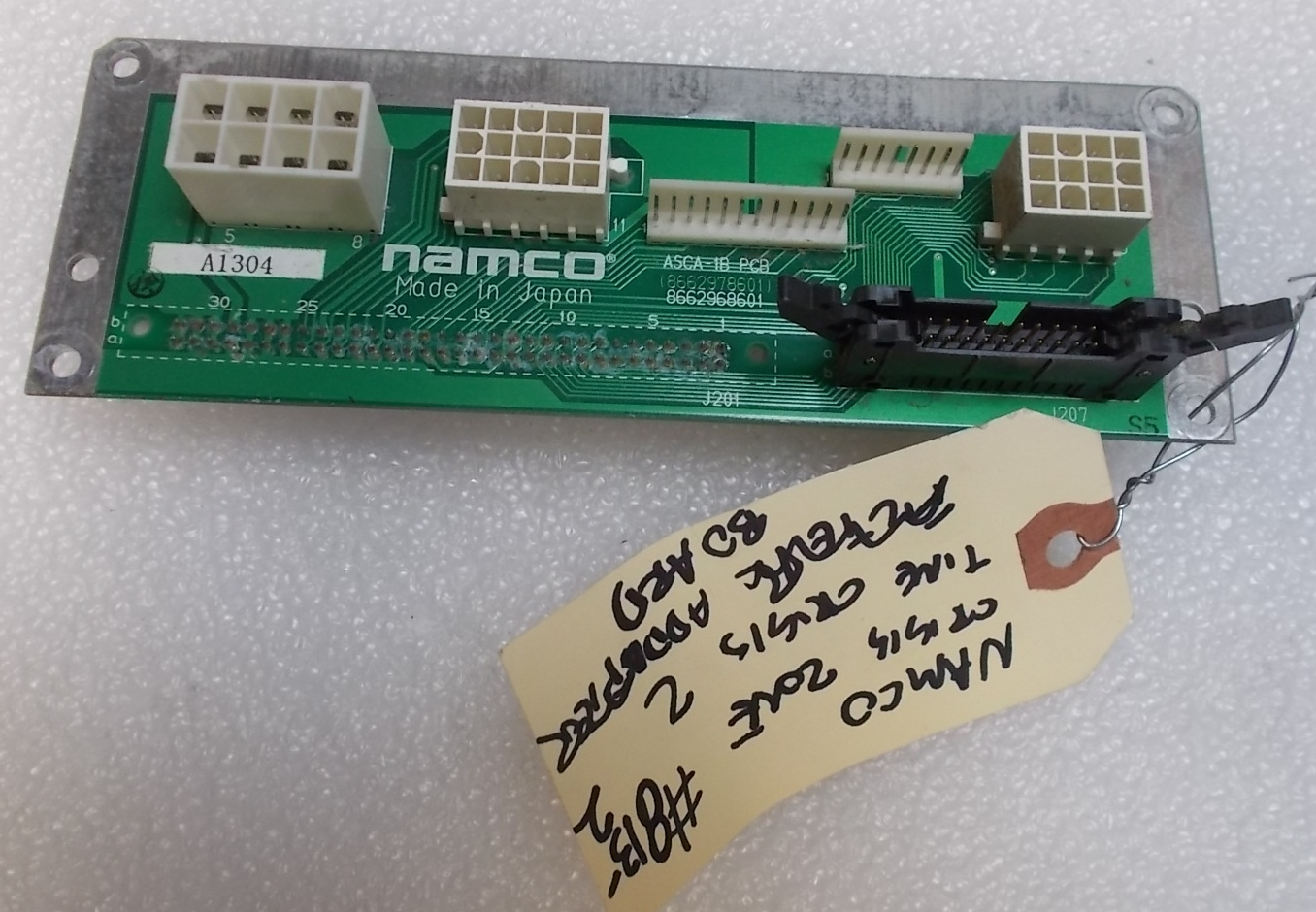 Crisis Zone Time 2 Adapter Arcade Machine Game Pcb Printed What Is A Circuit Board Namco