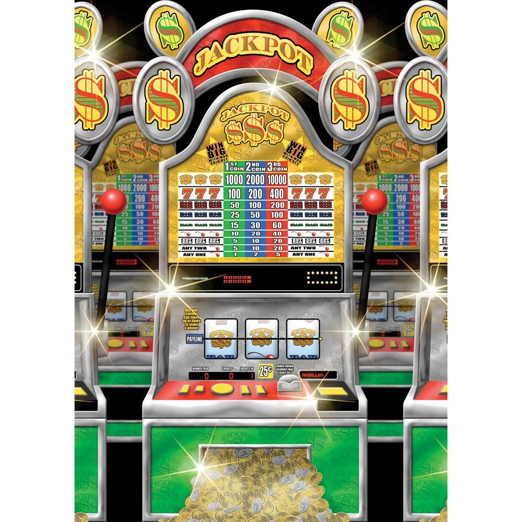 Casino Slot Machines Room Roll Party Wall Decoration Vinyl
