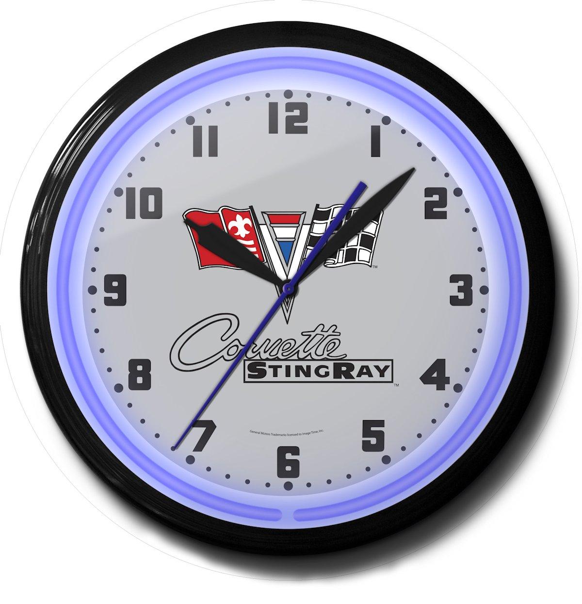 Corvette Stingray Neon Clock For Sale Sweeping Second