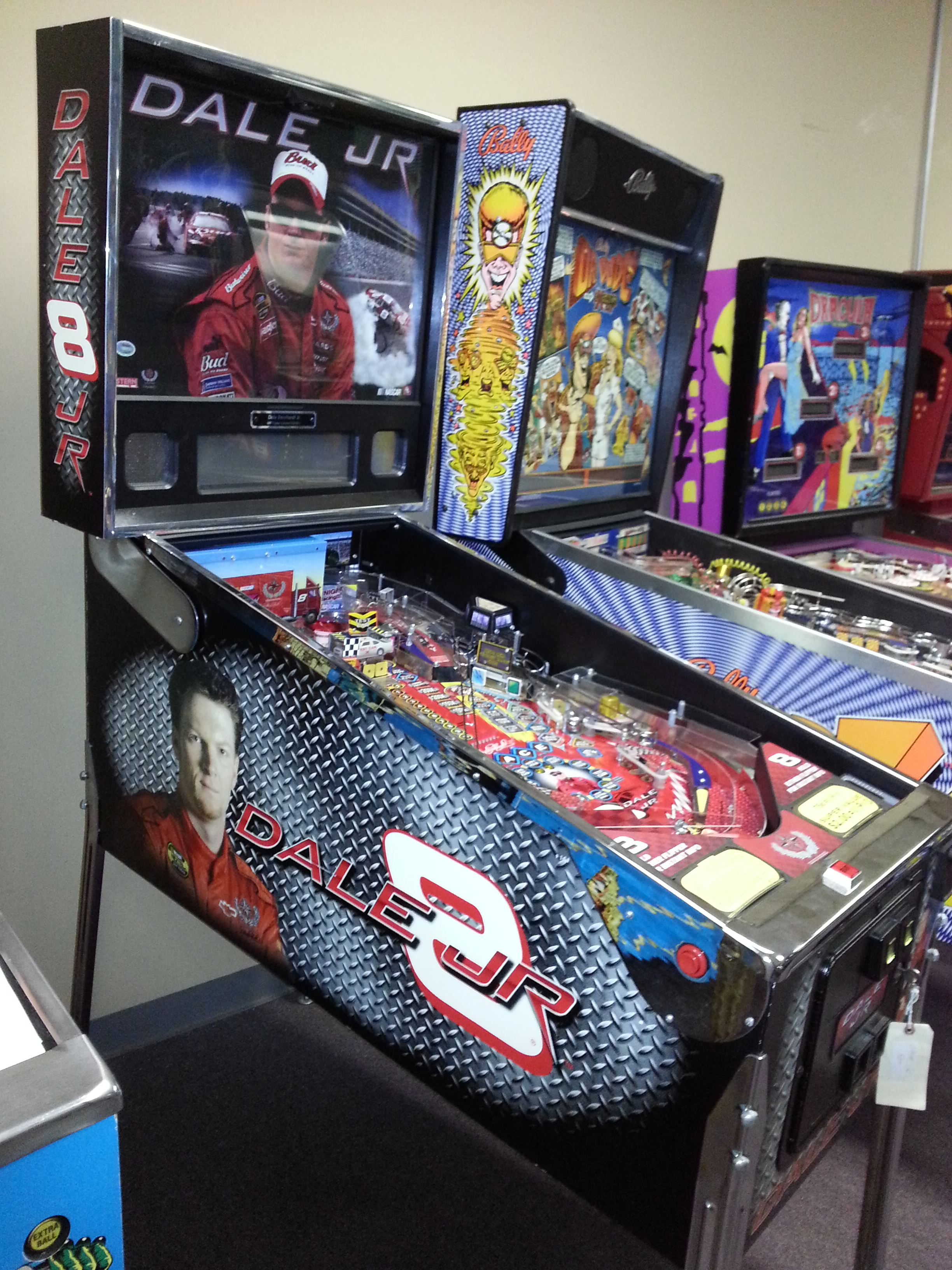 nascar dale earnhardt jr   8 pinball machine game for sale