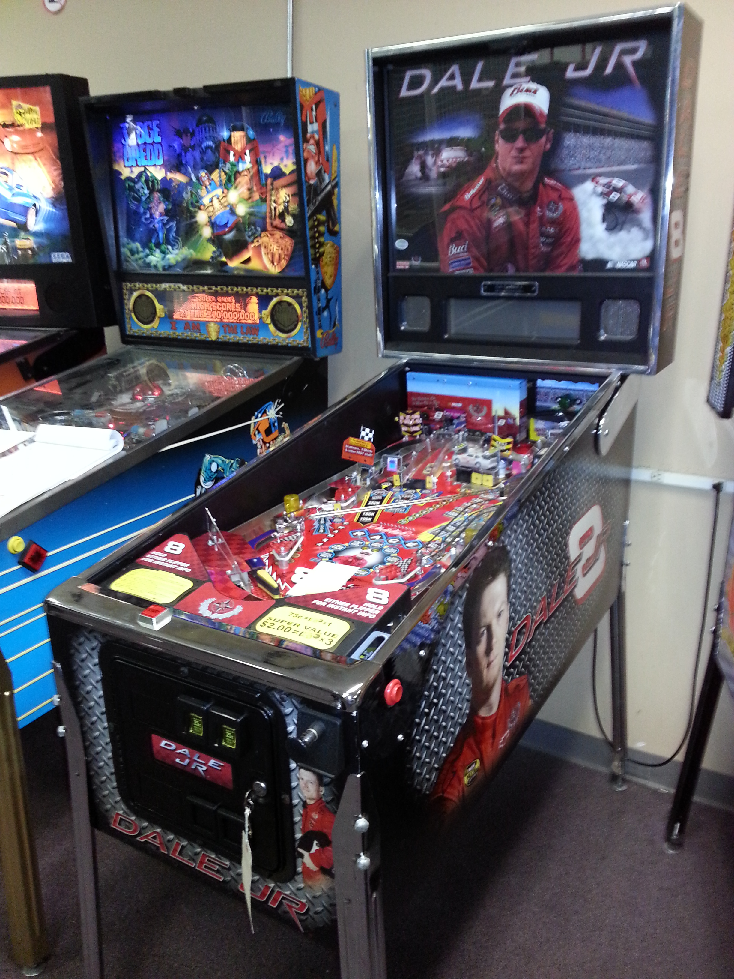 Used Car Parts For Sale >> NASCAR DALE EARNHARDT JR. #8 Pinball Machine Game for sale by Stern - LIMITED EDITION - FREE ...