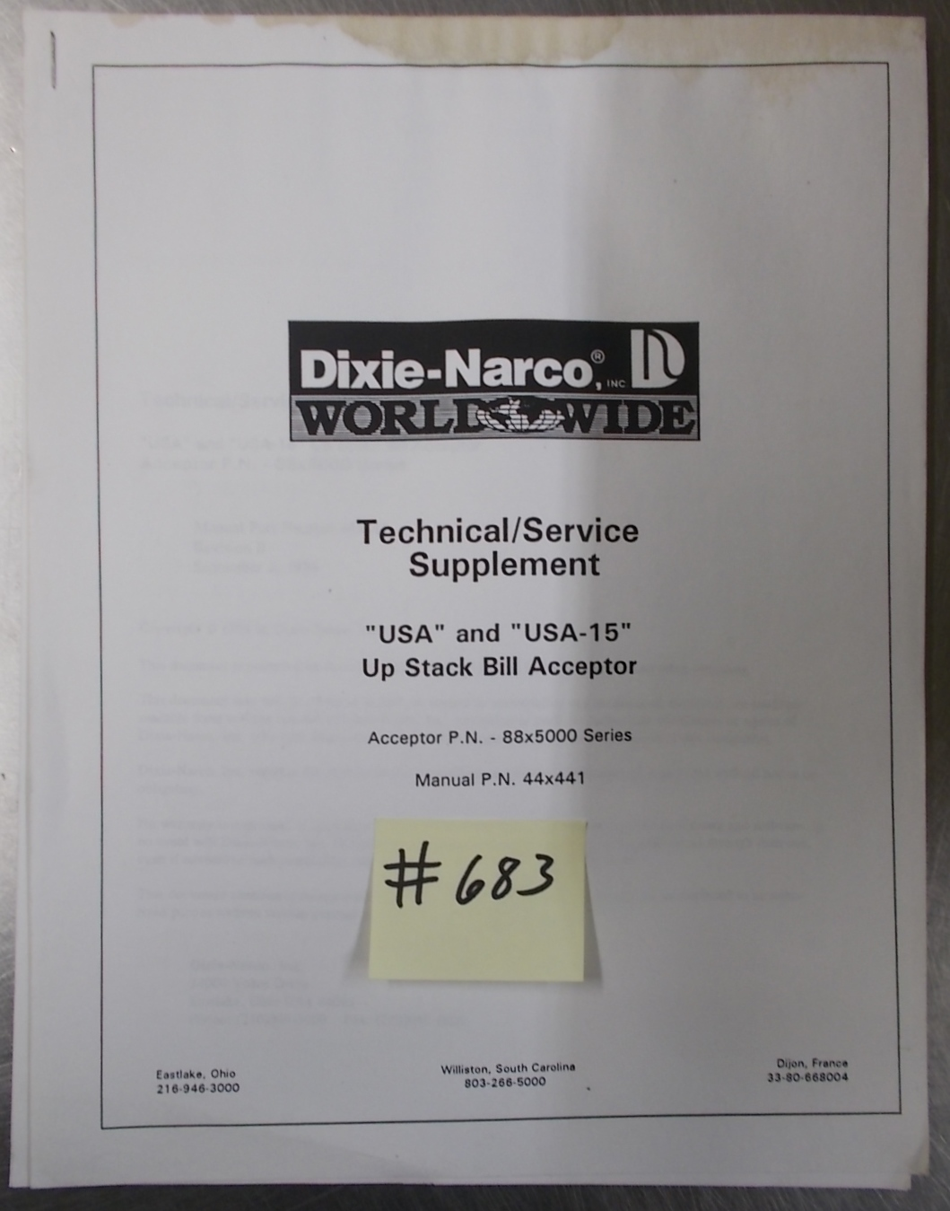 Dixie narco owners manuals.
