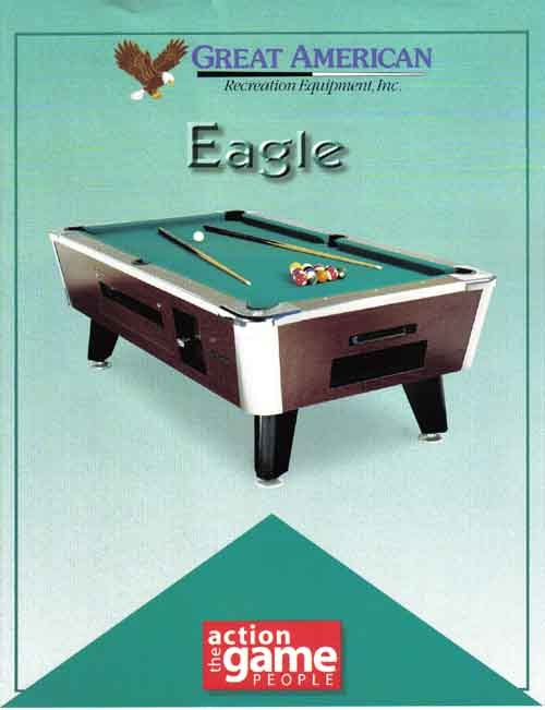 EAGLE Pool Table COINOPERATED For COMMERCIAL USE For Sale By - Coin operated pool table parts
