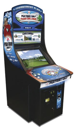 GLOBAL VR PGA GOLF TEAM CHALLENGE ALL ACCESS Edition Arcade Machine Game for sale - NEW
