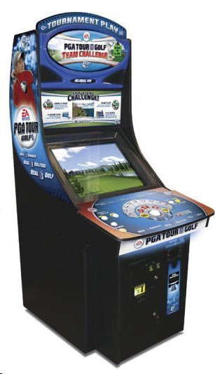 GLOBAL VR PGA Golf Team Challenge 27 Courses/485 HOLE Arcade Machine Game for sale
