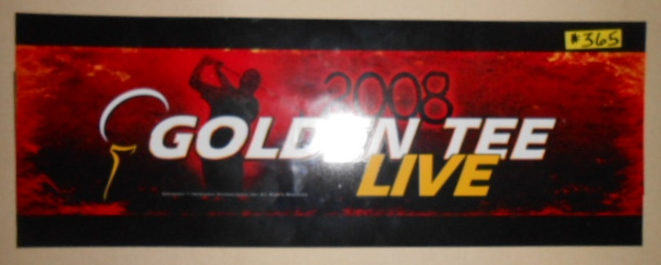 GOLDEN TEE LIVE Arcade Machine Game FLEXIBLE Overhead Marquee Header #365 for sale by IT