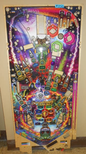 STERN GUARDIANS OF THE GALAXY LE Pinball Machine Game Playfield Production Reject #1150 for sale