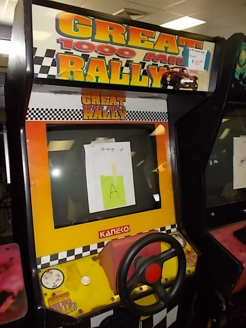 great 1000 mile rally arcade machine game for sale by