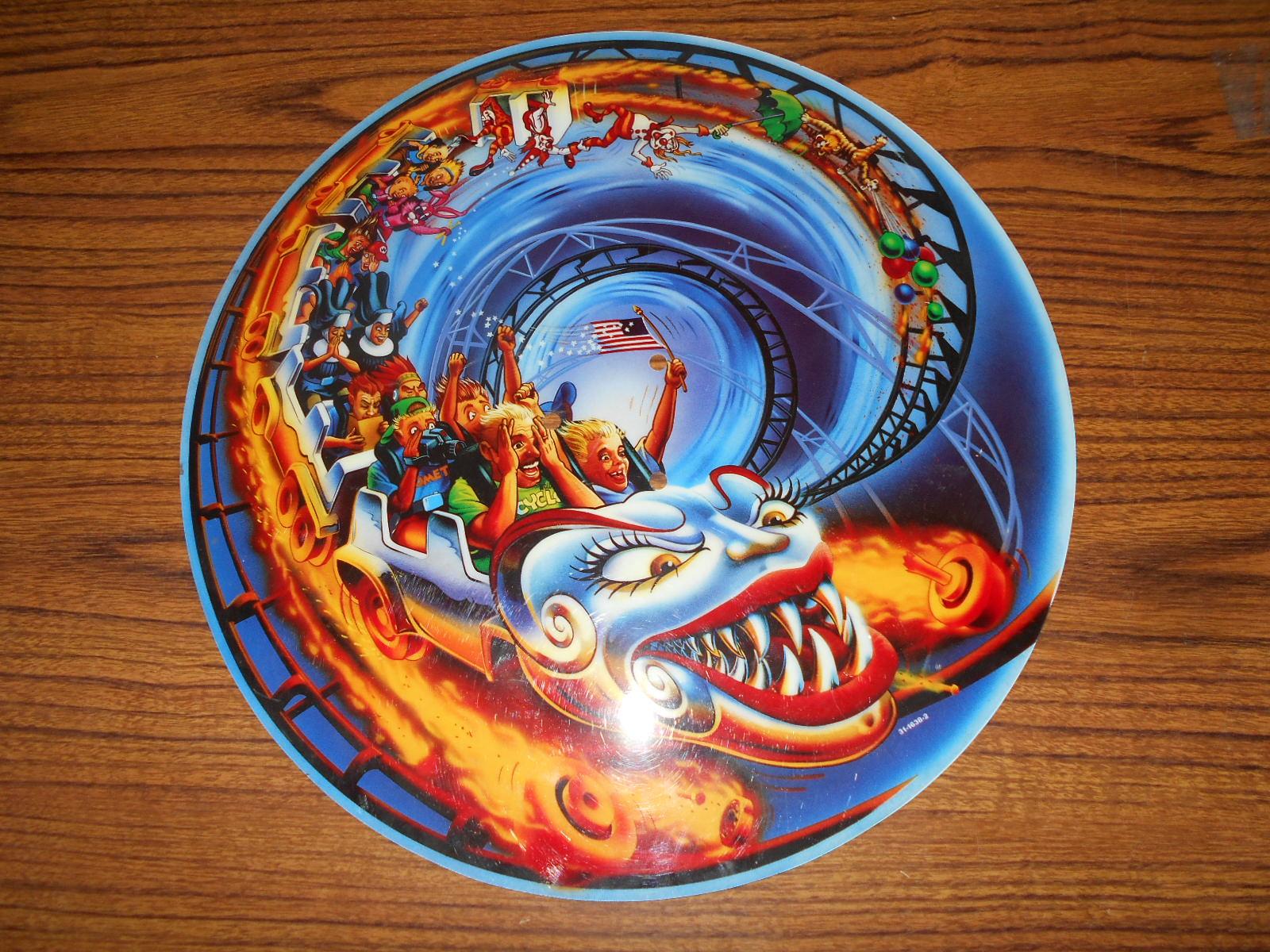 Hurricane Pinball Machine Game Screened Art Spinning Disc