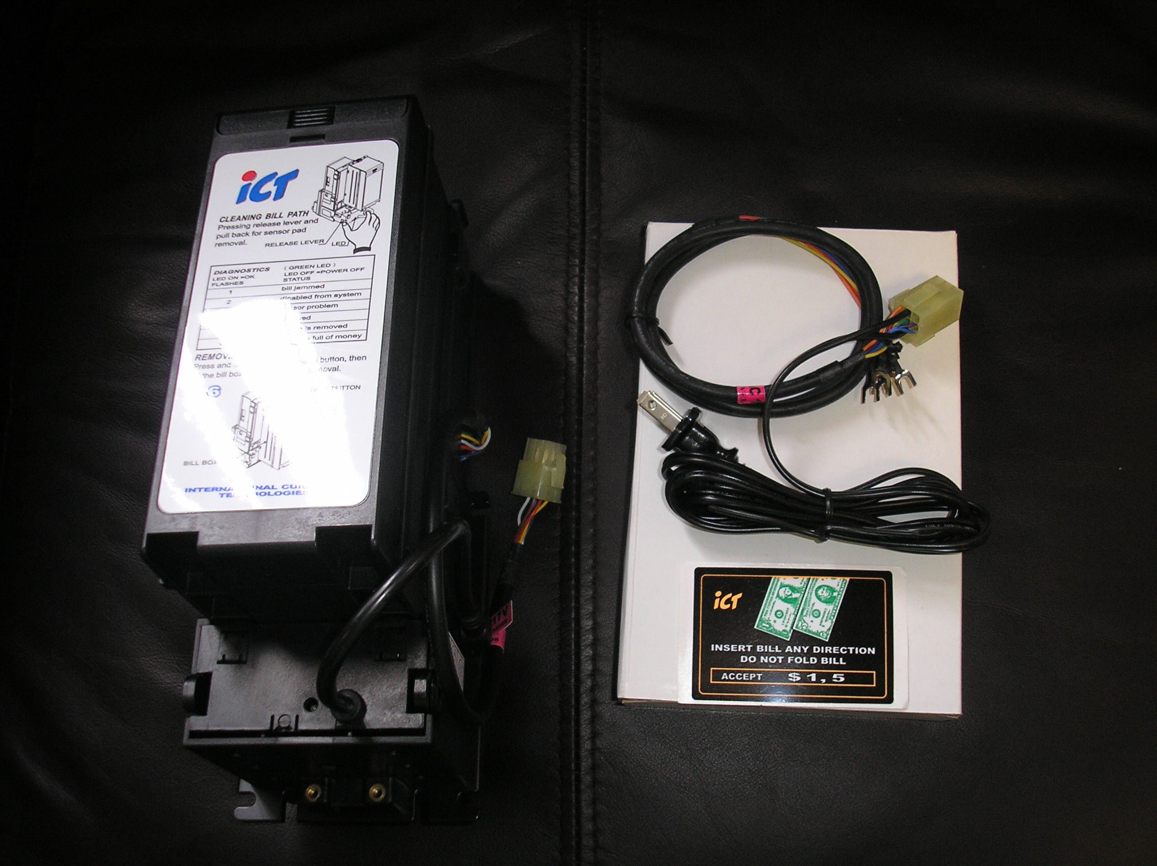 ICT A6-15SOP-USD2-II Dollar Bill Validator Acceptor Changer DBA