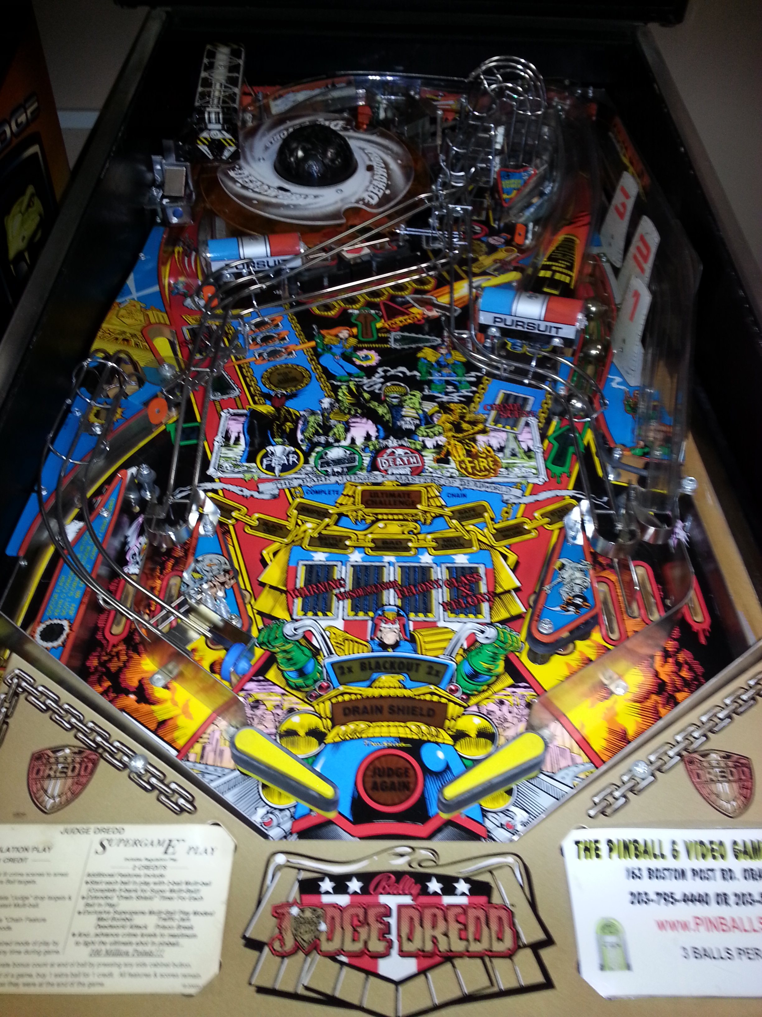 judge dredd pinball machine game for sale