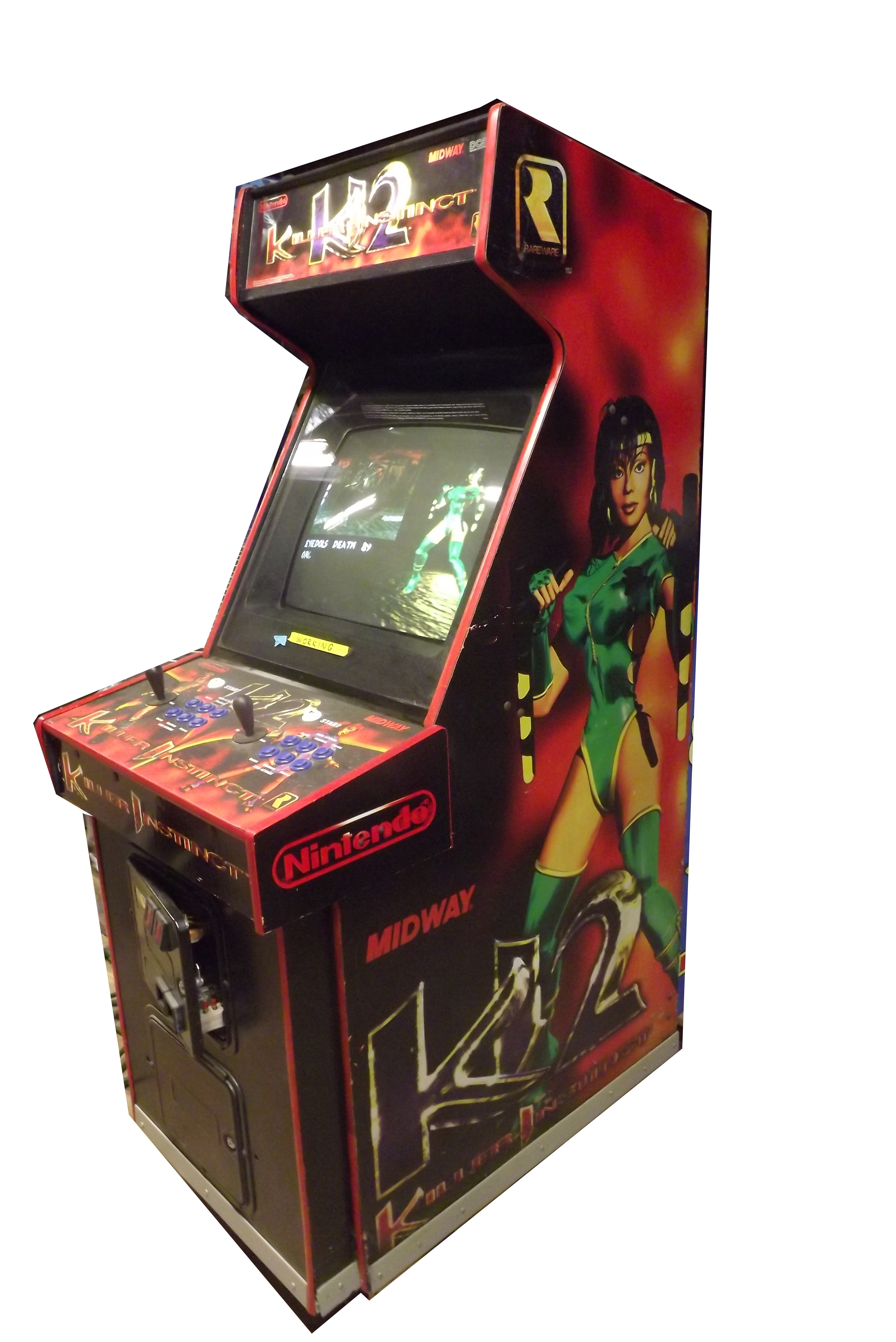 Used Arcade Games Sale : Killer instinct upright arcade machine game for sale by