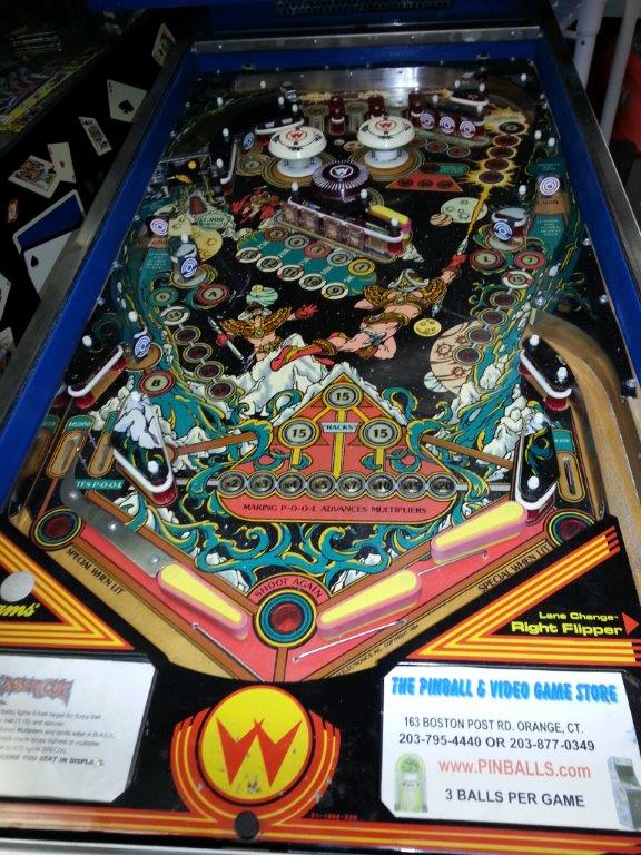 LASER CUE Pinball Machine Game for sale by Williams