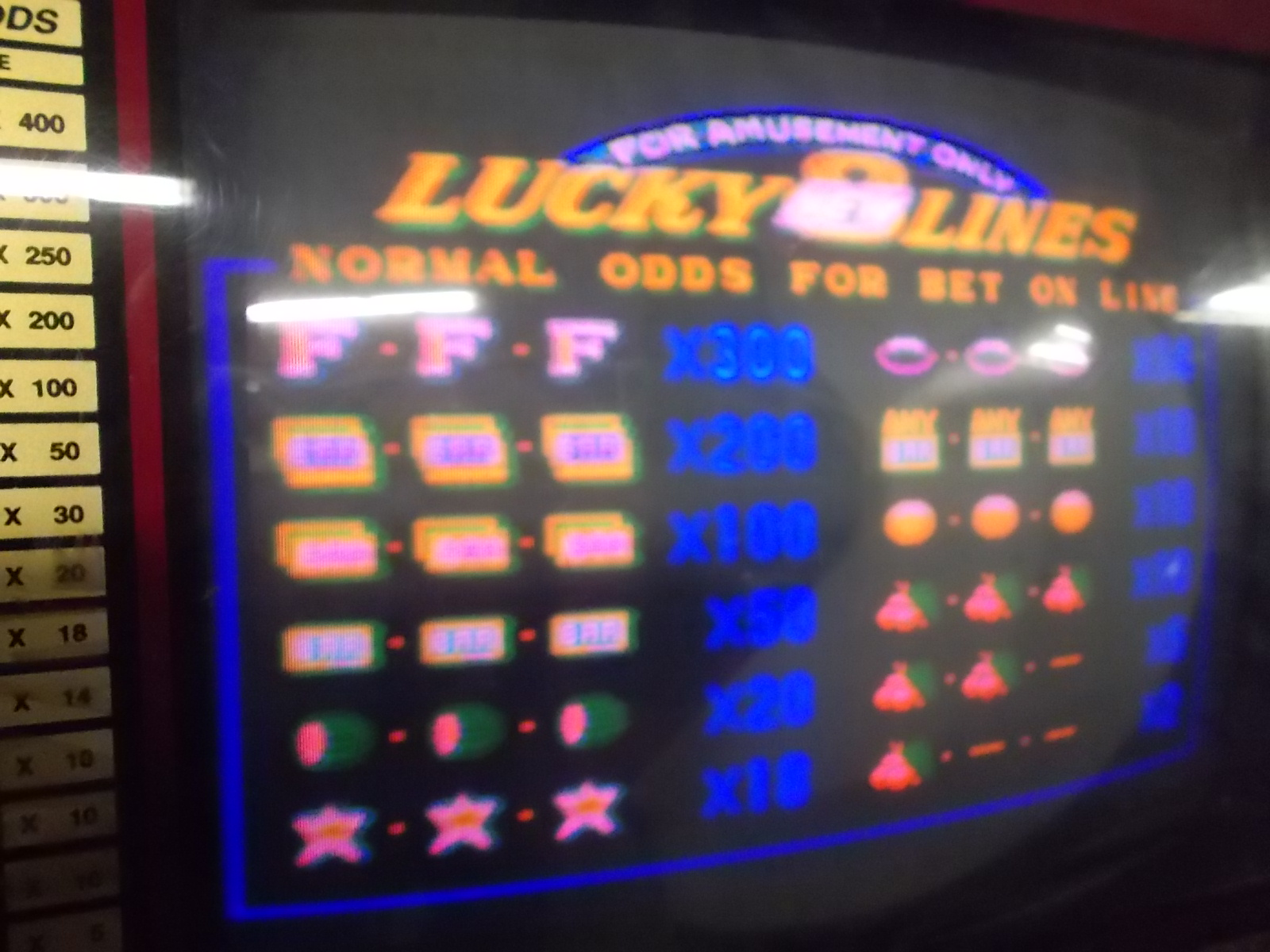 Lucky 8 Lines Arcade Machine Game Pcb Printed Circuit Board 2 As Picture Of Old Is