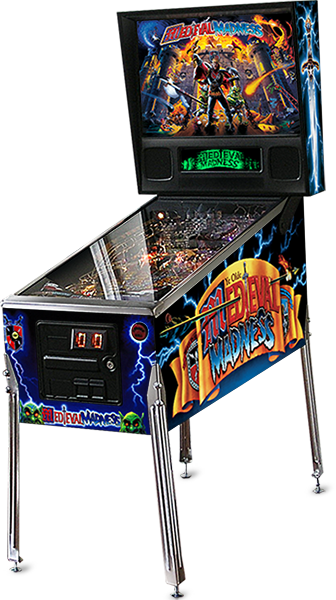 MEDIEVAL MADNESS Standard Pinball Machine Game for sale - Planetary Pinball - Silver Trim