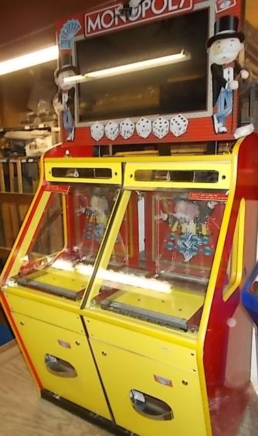 Monopoly 2 Coin Pusher Ticket Redemption Arcade Machine