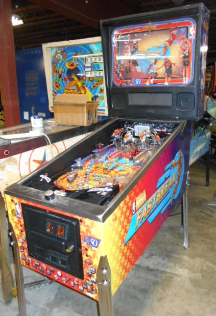 Nba Fastbreak Pinball Machine Game For Sale By Bally Led