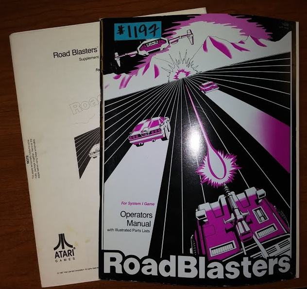 ROAD BLASTERS Arcade Machine Game OPERATORS MANUAL with ILLUSTRATED PARTS LISTS & SCHEMATICS #1197 for sale