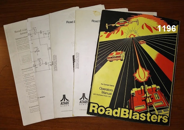 ROAD BLASTERS COCKPIT Arcade Machine Game OPERATORS MANUAL with ILLUSTRATED PARTS LISTS & SCHEMATICS #1196 for sale