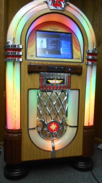 Rock Ola Nostalgic Bubbler Cd Compact Disc Jukebox For