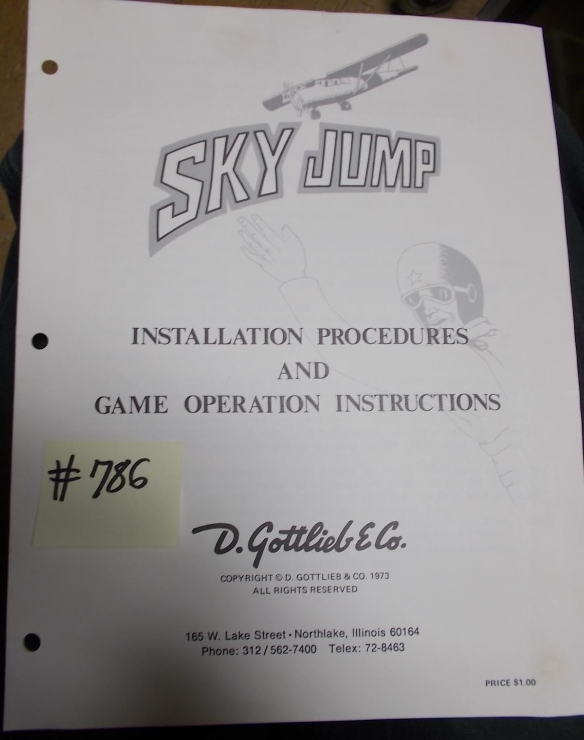 Sky Jump Pinball Machine Game Installation Procedures Game