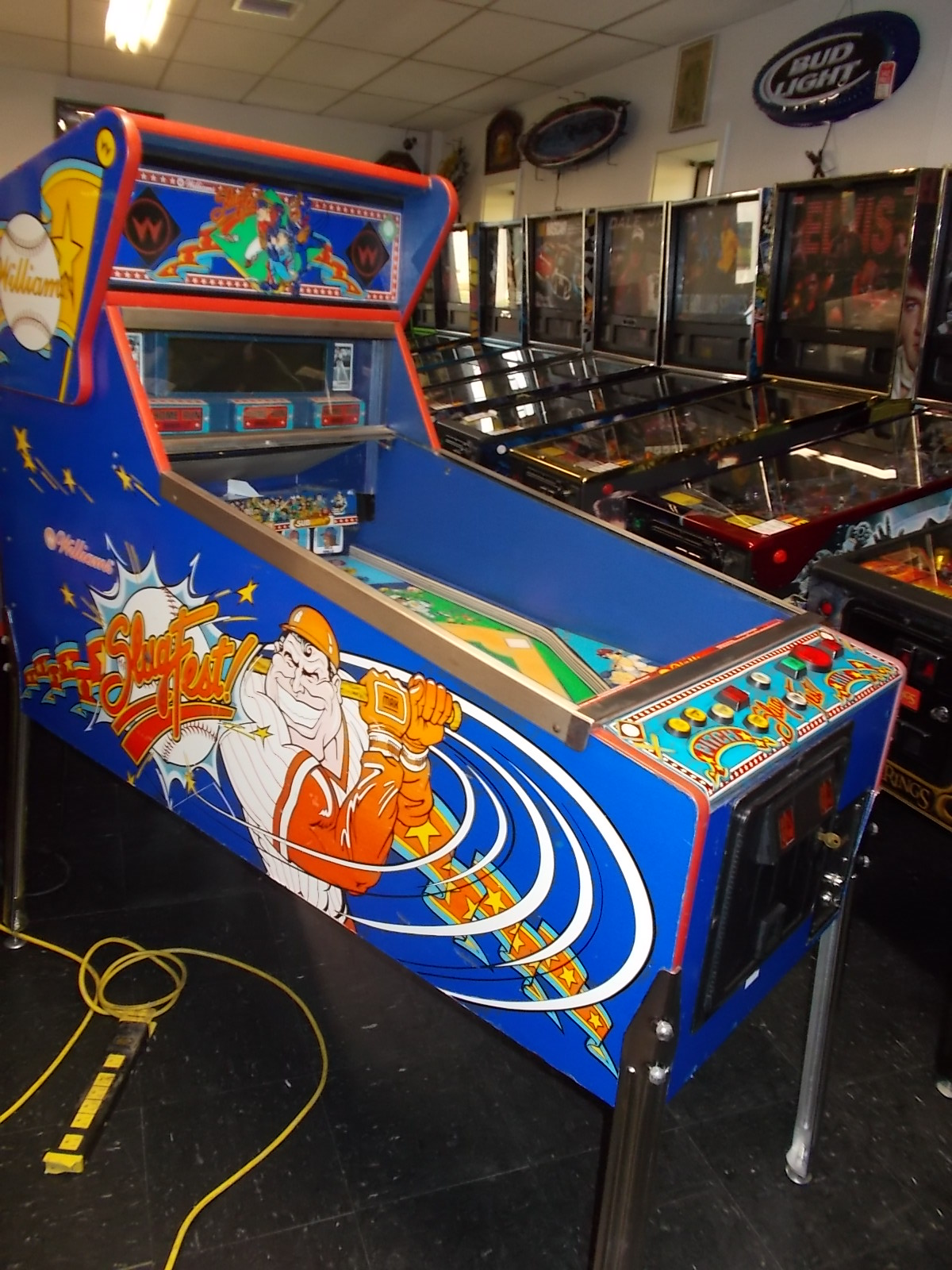 SLUGFEST BASEBALL PITCH & BAT Arcade Machine Game for sale by WILLIAMS - LED UPGRADE