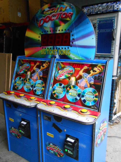 SPIN DOCTOR Ticket Redemption Arcade Machine Game for sale