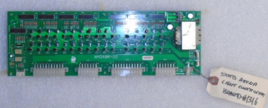 SPORTS ARENA Arcade Machine Game PCB Printed Circuit LIGHT CONTROLLER board #1316 for sale by SAMMY