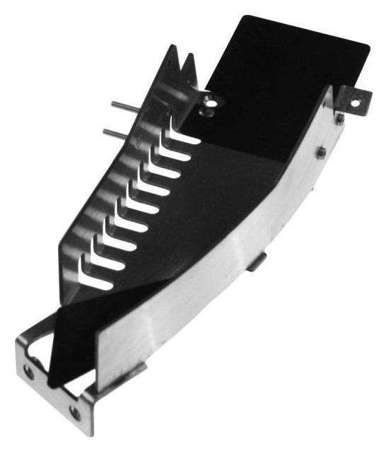 STERN BATMAN Pinball Machine Game CENTER METAL RAMP with FLAPS #510-5070-01 for sale