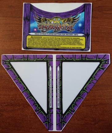 STERN AEROSMITH Pinball Machine Game APRON DECALS for sale