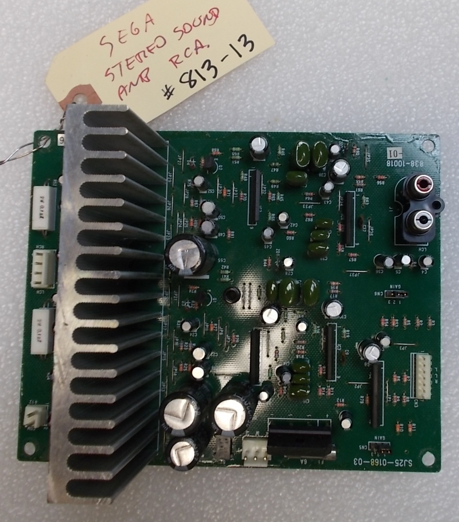 Sega Stereo Sound Amp With Rca Jacks Arcade Machine Game Pcb Printed Circuit Board 813