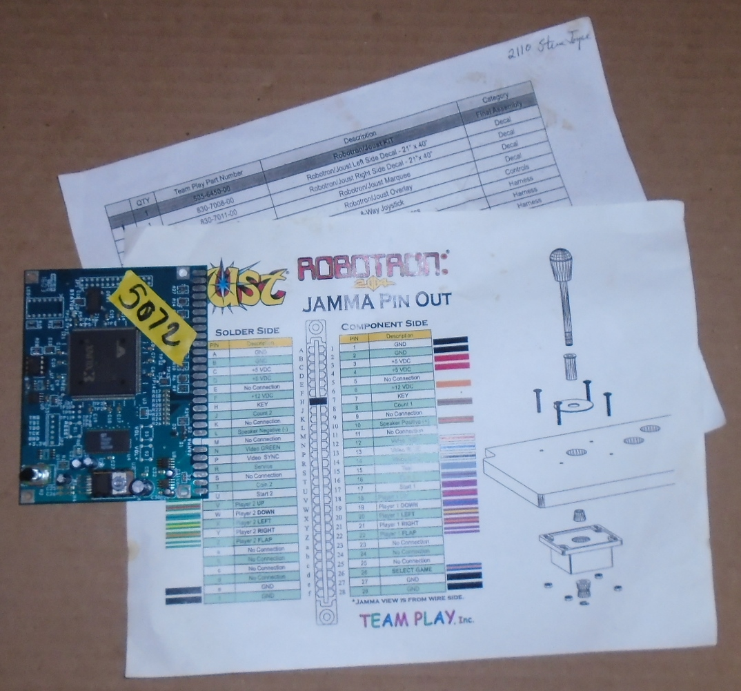 TEAM PLAY JOUST / ROBOTRON Arcade Machine Game PCB Printed Circuit ...