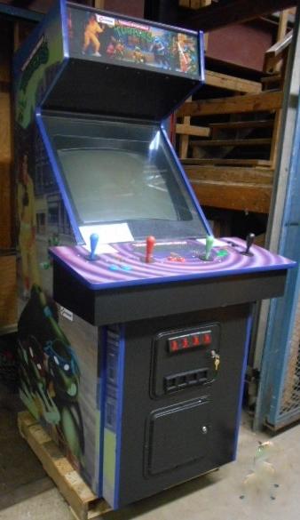 teenage mutant ninja turtles upright arcade machine game