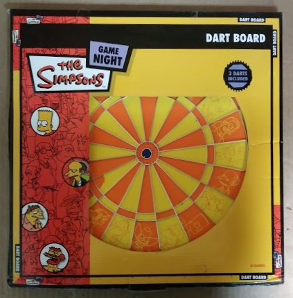 The Simpsons Game Night Dart Board For Sale 2 Sided