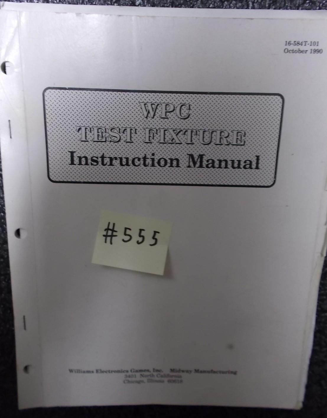 Wpc Test williams pinball machine wpc test fixture manual