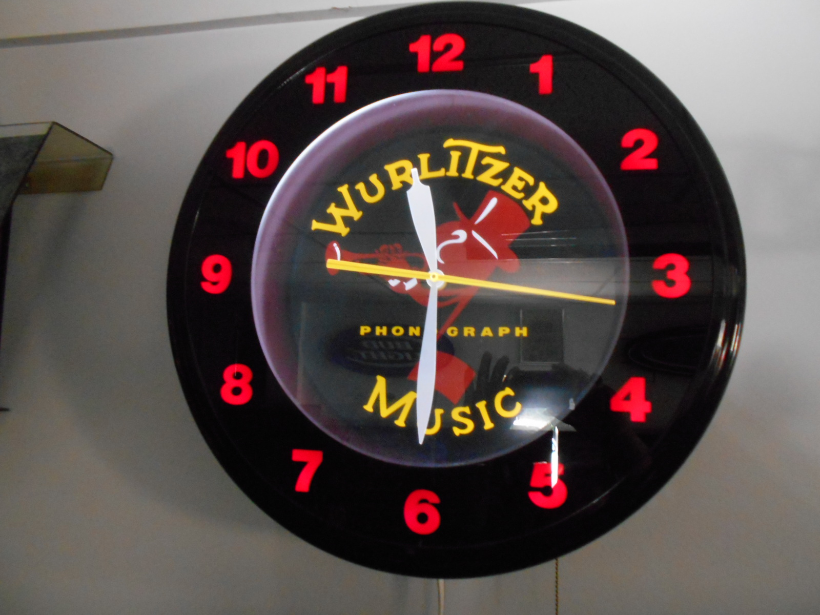 Wurlitzer Johnny One Note Neon Clock Official Licensed