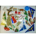 ADDAMS FAMILY Pinball Machine Game Misc. Plastic Lot #W41
