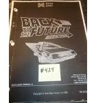 BACK TO THE FUTURE Pinball Machine Game Owner's Manual #424 for sale - DATA EAST