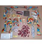 BALLY NITRO GROUNDSHAKER Pinball Machine Game MISC. PARTS LOT #3955 for sale