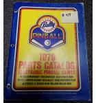 BALLY Pinball Machine Game 1979 Parts Catalog #419 for sale