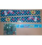 BROMLEY ROCK'N BOWL Arcade Machine Game PCB Printed Circuit Board & Plastics #4291 for sale
