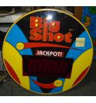 Big Shot Redemption Arcade Machine Game LED DISPLAY TOPPER for sale #450