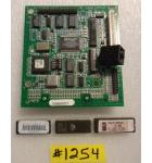 CALIFORNIA SPEED Arcade Machine Game PCB Printed Circuit I/O Board #1254 with Security, Sound & Boot Up Chips for sale