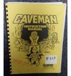 CAVEMAN Pinball Machine Game Instruction Manual #525 for sale - GOTTLIEB