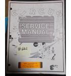 CIRCUS Arcade Machine Game SERVICE MANUAL #662 for sale